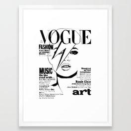 Kate Moss / David Bowie Framed Art Print