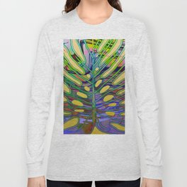 Monstera Colorful Spring Summer Long Sleeve T-shirt