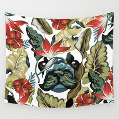 Tropical Frenchie Wall Tapestry