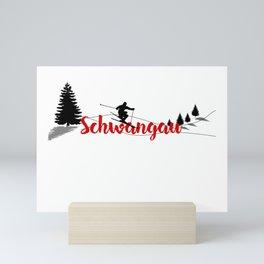 Ski at Schwangau Mini Art Print