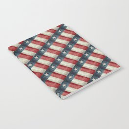 Vintage Texas state flag pattern Notebook