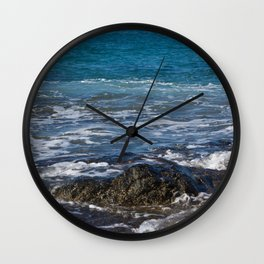 rock in the waves Wall Clock