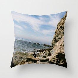 Rock Stack Ocean  Throw Pillow