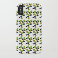 gold dots iPhone & iPod Cases featuring Dots by Laura Huebner