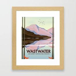 Wastwater Lake district England Framed Art Print