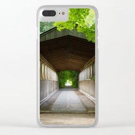 Meet Me At the Bridge Clear iPhone Case