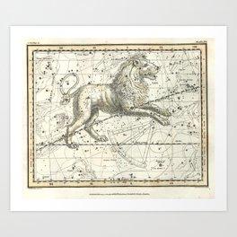 Leo Constellation - Celestial Atlas Plate 17 - Alexander Jamieson Art Print