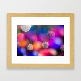 Rainbow Bokeh Framed Art Print