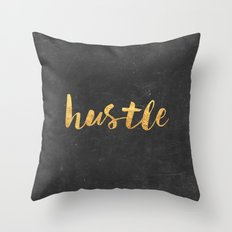 Hustle Throw Pillow