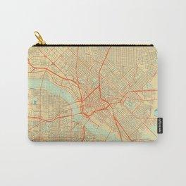 Dallas Map Retro Carry-All Pouch