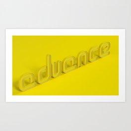 Advance Art Print