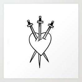 Three of Swords Art Print