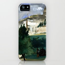 Édouard Manet The Funeral iPhone Case