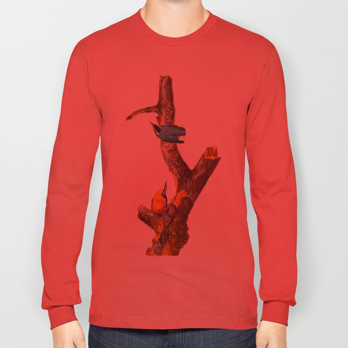 Red-breasted Nuthatch Bird Long Sleeve T-shirt