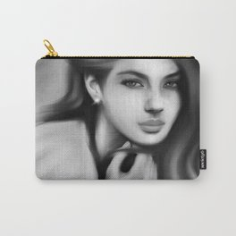 Black and White Woman Carry-All Pouch