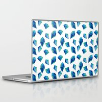 diamonds Laptop & iPad Skins featuring diamonds by Sil Elorduy
