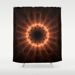 Firey Iris Shower Curtain