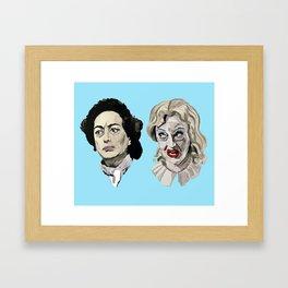 Whatever Happened To Baby Jane? Blue. Framed Art Print