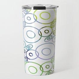 Beautiful Bluish Circles Travel Mug