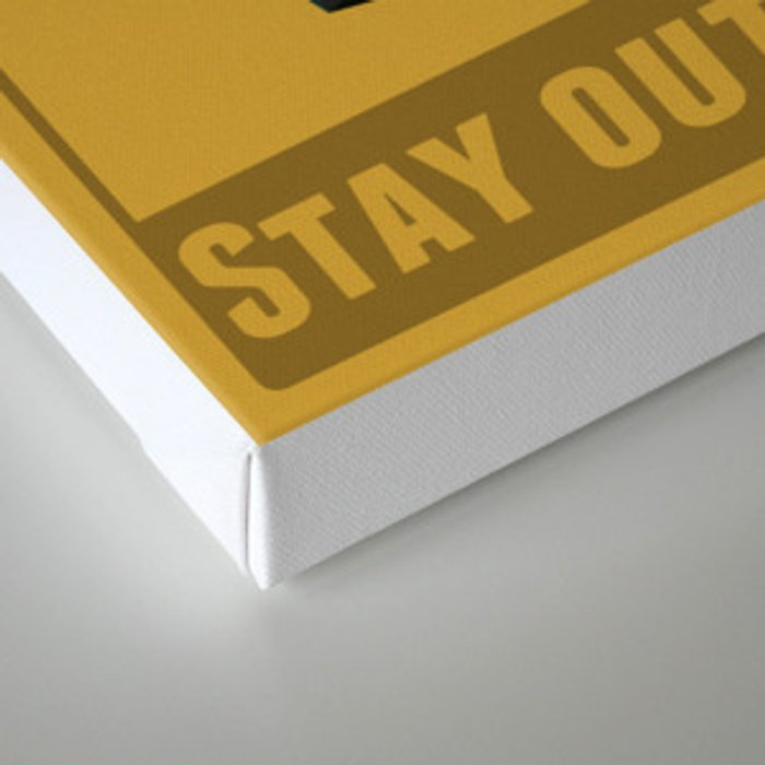 Stay Out of Trouble Canvas Print