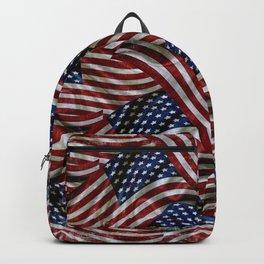 Rustic American Flags Backpack