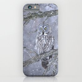 Beautiful gray on a snowy day  iPhone Case