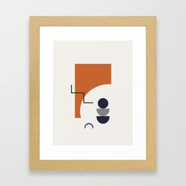 Abstract Shapes - Autumn Framed Art Print