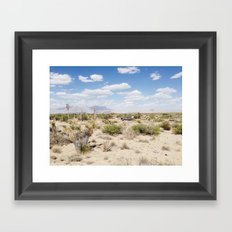 Salt Flat, Texas Framed Art Print