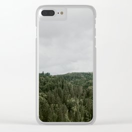 Tree Tops - Washington State Clear iPhone Case