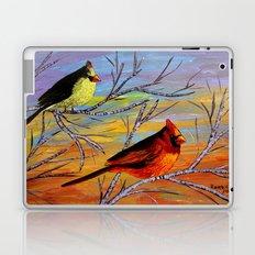 Birds on the birch tree Laptop & iPad Skin
