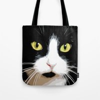 merlin Tote Bags featuring MERLIN by SAMHAIN