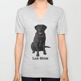 Dog Mom Black Labrador Retriever Unisex V-Neck