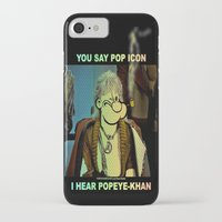 popeye iPhone & iPod Cases featuring POP ICON / POPEYE-KHAN 025 by Lazy Bones Studios