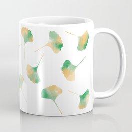 Ginkgo biloba leaves white Coffee Mug