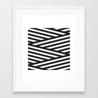 stripes Framed Art Prints featuring Stripes by Dizzy Moments