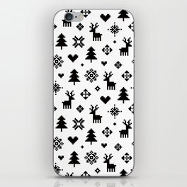 PIXEL PATTERN - WINTER FOREST iPhone Skin