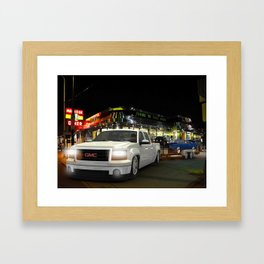 After the races Saturday night Framed Art Print
