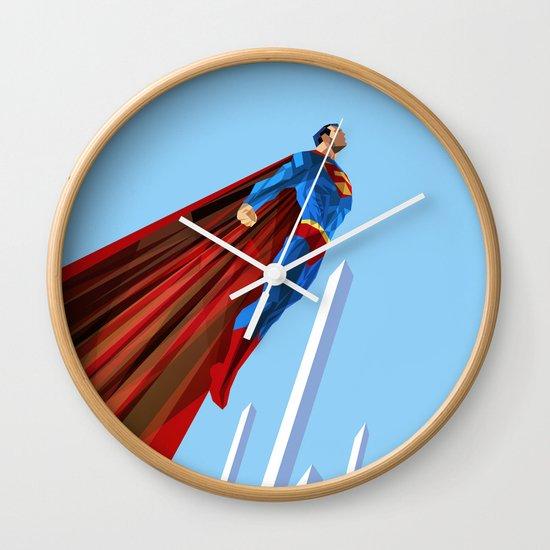 Man Up (blue steel variant) Wall Clock