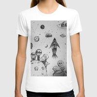 hunting T-shirts featuring Interstellar hunting by monicamarcov
