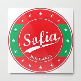 Sofia, Bulgaria, circle, red Metal Print