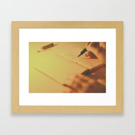 Writing by Candlelight Framed Art Print