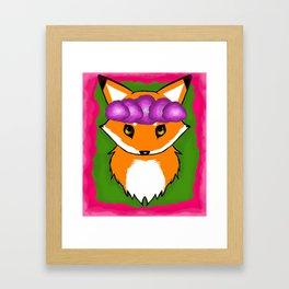 Flowery Fox  Framed Art Print