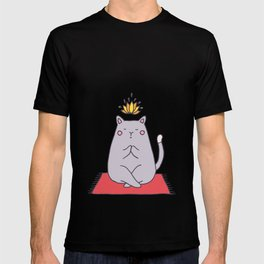Yoga cat T-shirt