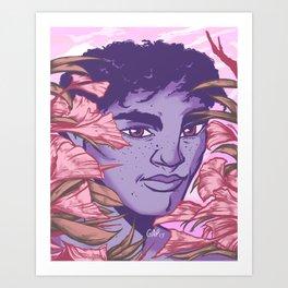 Brooding Beauty Art Print