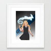 luna lovegood Framed Art Prints featuring Luna Lovegood by Oochami