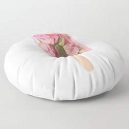 FLORAL POPSICLE Floor Pillow