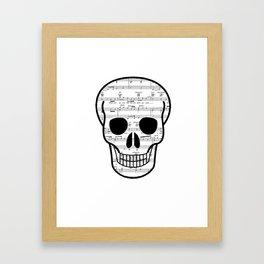 Music Skull Framed Art Print
