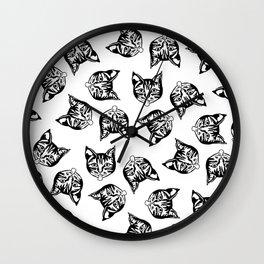 Black Mollycats Wall Clock
