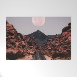 Road Red Moon Welcome Mat