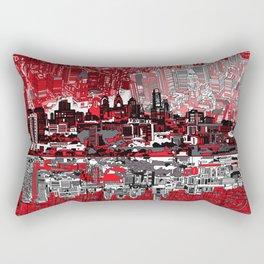 philadelphia city skyline Rectangular Pillow